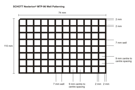 MTP 96 well dimensions